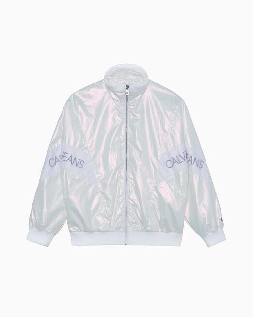 CALVIN KLEIN 여아용 IRIDESCENT 재킷
