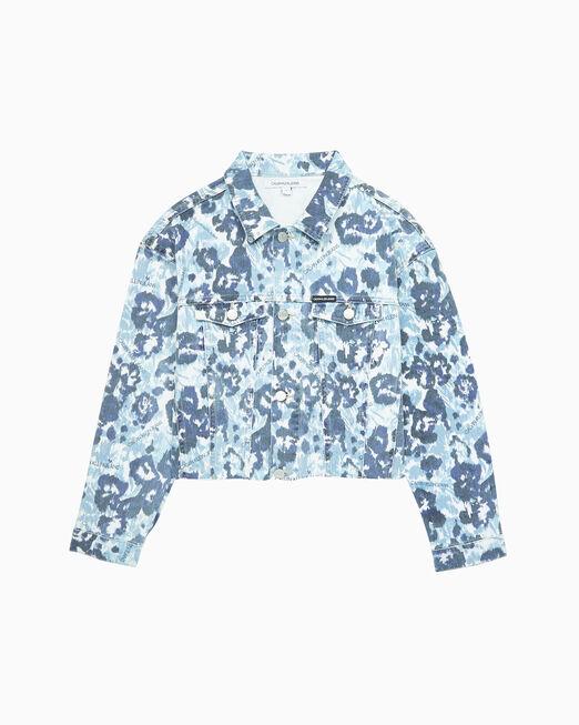 CALVIN KLEIN 여아용 FLORAL PRINT 재킷