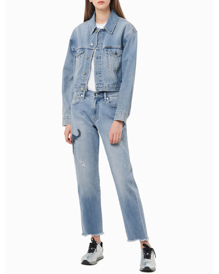 CALVIN KLEIN CHINESE NEW YEAR CAPSULE RELAXED DENIM TRUCKER JACKET