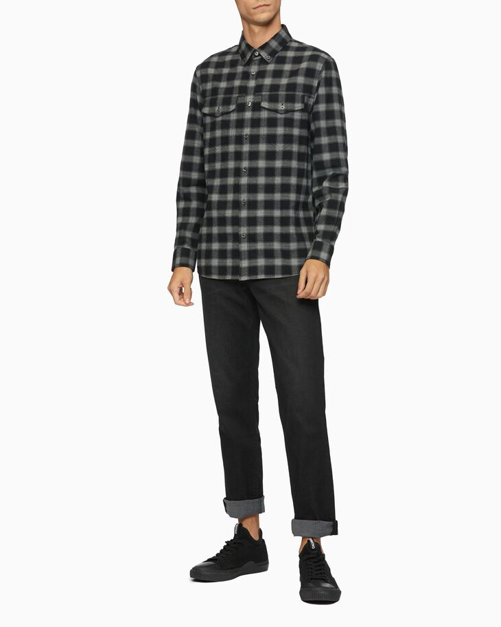 CALVIN KLEIN FLANNEL LONG SLEEVE SHIRT