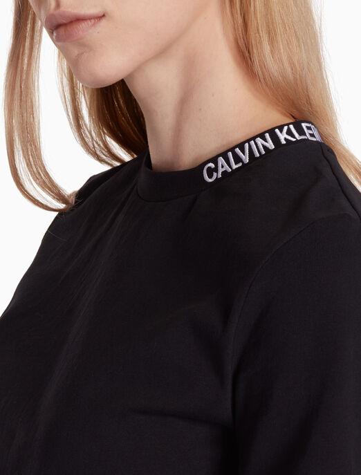 CALVIN KLEIN 크롭트 스케이터 티셔츠