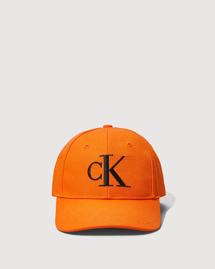 CALVIN KLEIN ORGANIC COTTON CANVAS MONOGRAM LOGO 棒球帽