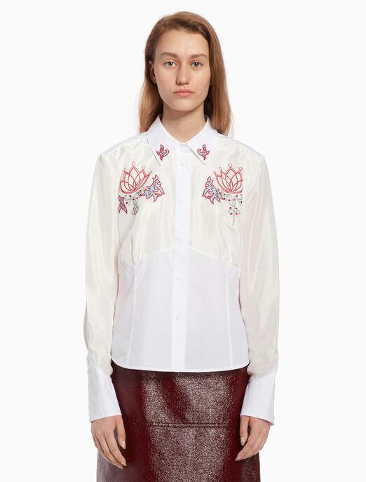 CALVIN KLEIN Embroidery corset shirt