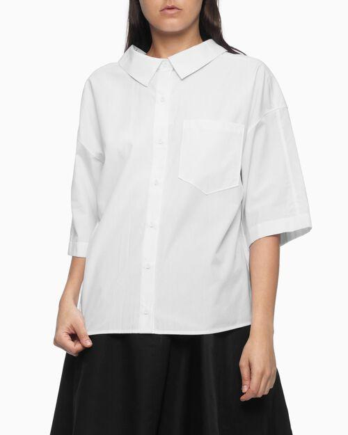 CALVIN KLEIN 여성 뉴 쉐이프 셔츠