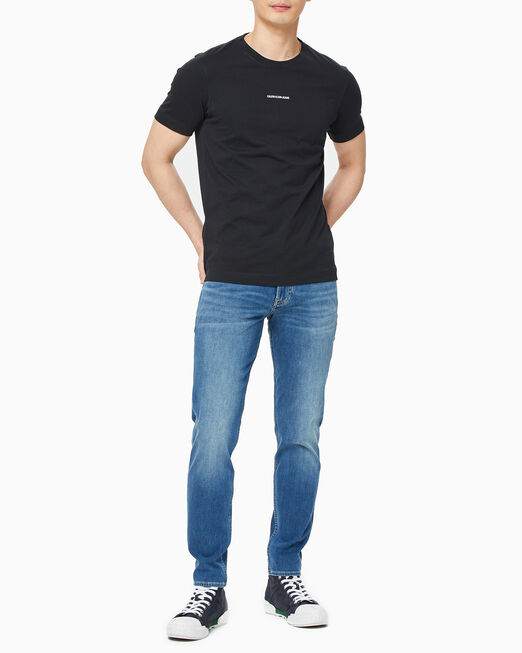 CALVIN KLEIN 남성 마이크로 브랜딩 에센셜 반팔 티셔츠