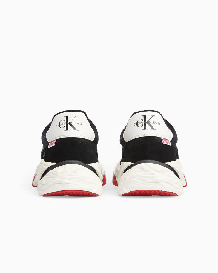 CALVIN KLEIN LOGO CHUNKY LOW TOP SNEAKERS