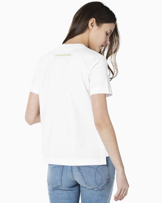 CALVIN KLEIN 여성 CNY 패션 그래픽 로고 스트레이트 핏 반팔 티셔츠