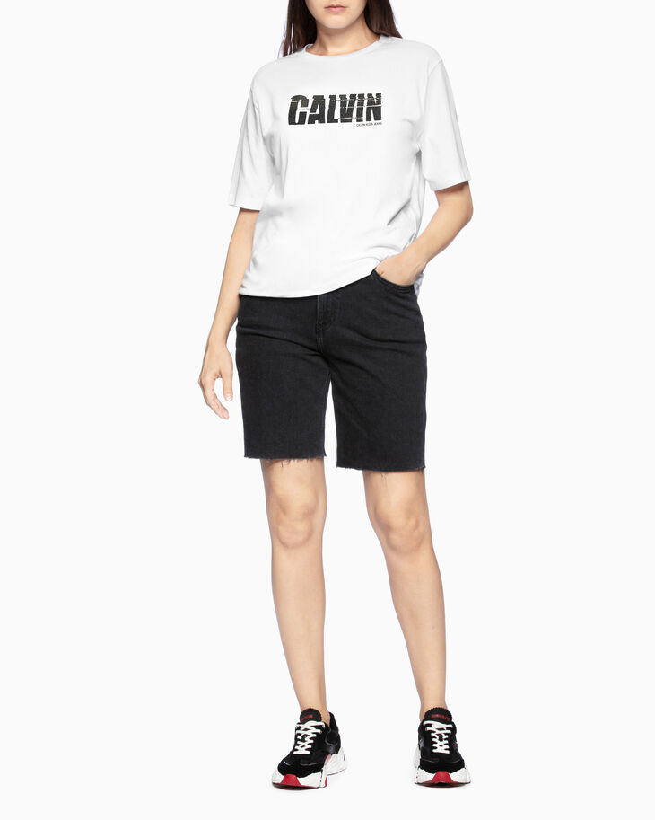 CALVIN KLEIN 37.5 ロゴグラフィック T シャツ