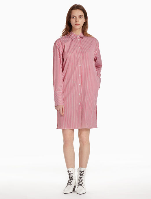 CALVIN KLEIN 스트라이프 셔츠 드레스