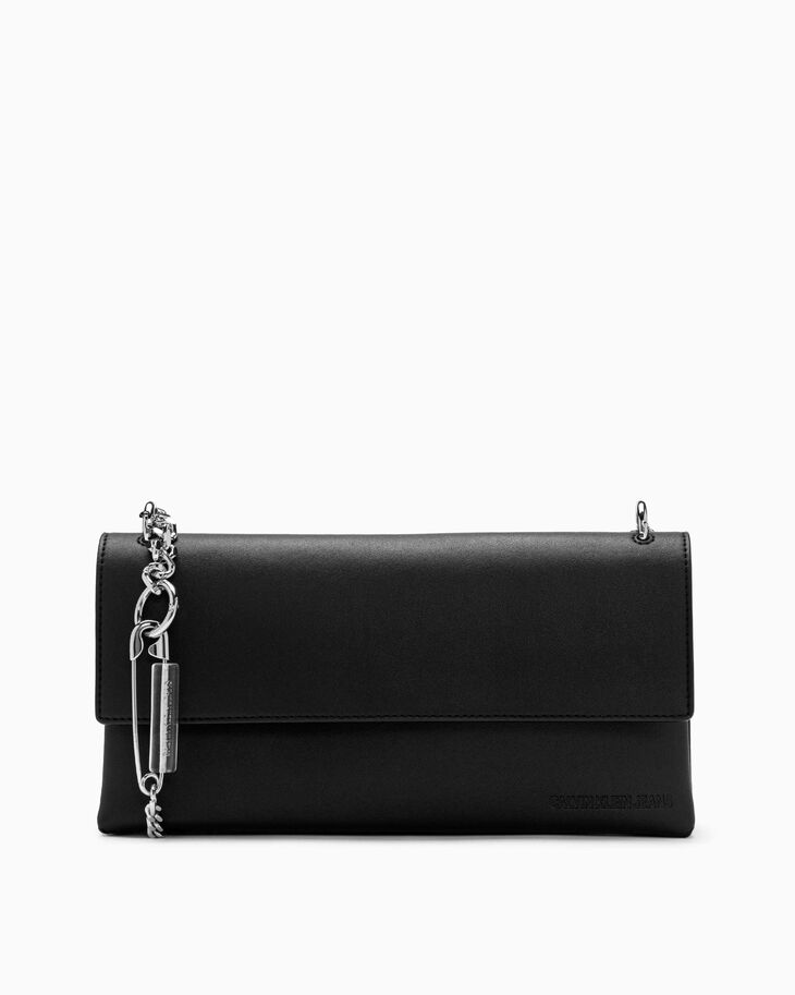 CALVIN KLEIN SAFETY PIN BOX CLUTCH