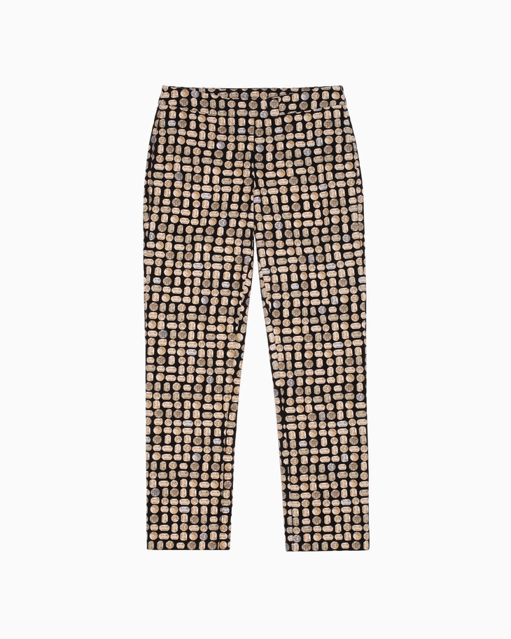 CALVIN KLEIN JEWEL PRINT COTTON STRETCH PANTS