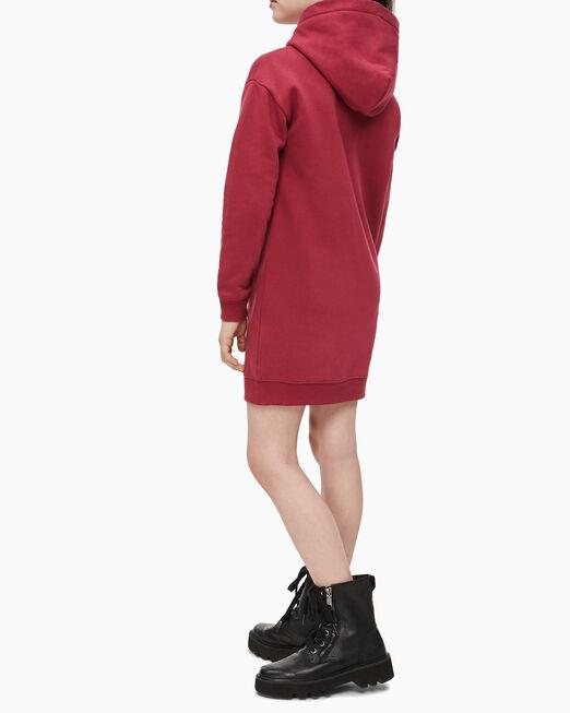 CALVIN KLEIN 여아용 모노그램 로고 스웨트셔츠 드레스