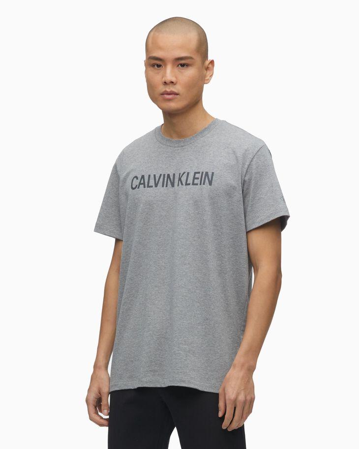 CALVIN KLEIN REFLECTIVE LOGO SLIM TEE