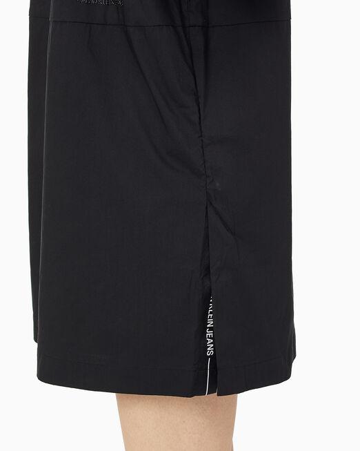 CALVIN KLEIN 여성 로고 테이프 릴렉스 핏 드레스