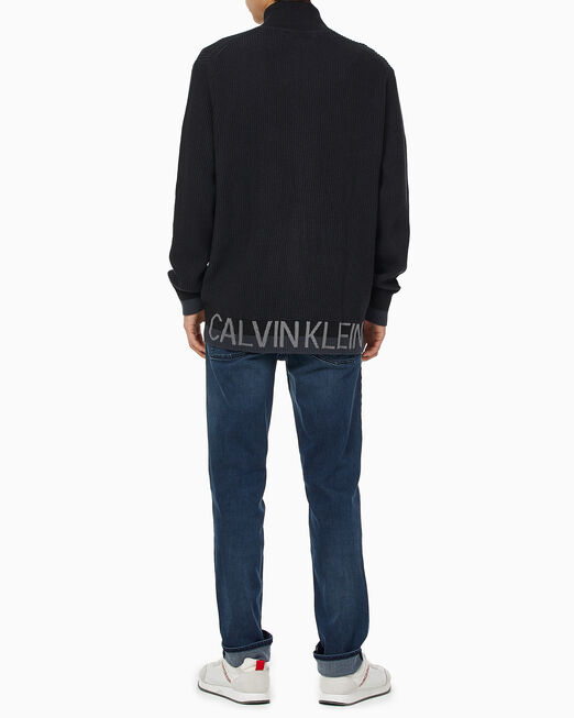 CALVIN KLEIN 남성 패션핏 집업 스웨터