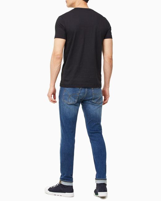 CALVIN KLEIN 남성 호라이젠털 CK 패널 티셔츠