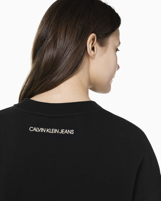 CALVIN KLEIN 여성 CNY 모노그램 로고 크루넥 스웨트셔츠