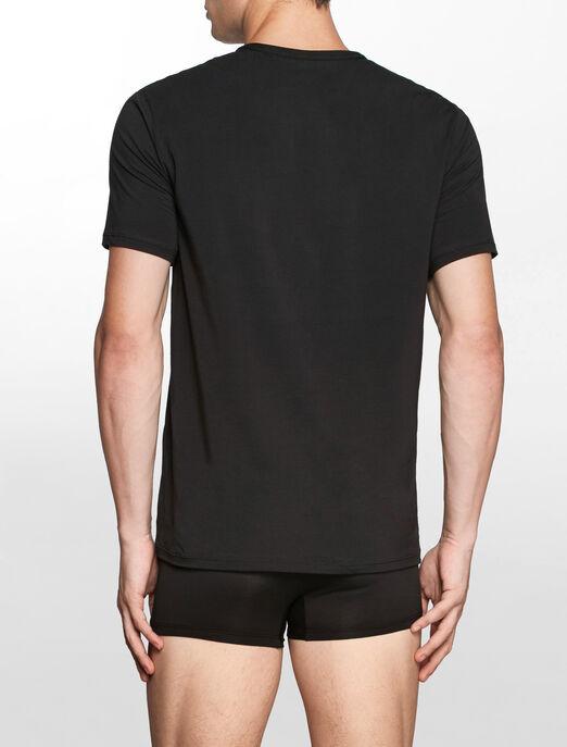 CALVIN KLEIN CK BLACK 코튼 반소매 크루넥 티셔츠