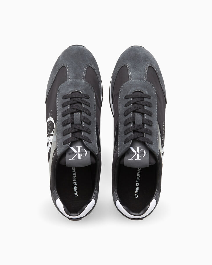 CALVIN KLEIN MONOGRAM LACE UP SNEAKERS