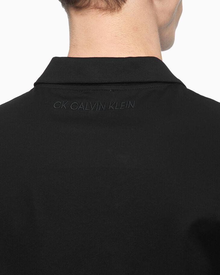 CALVIN KLEIN SPREAD COLLAR SHORT SLEEVE SHIRT