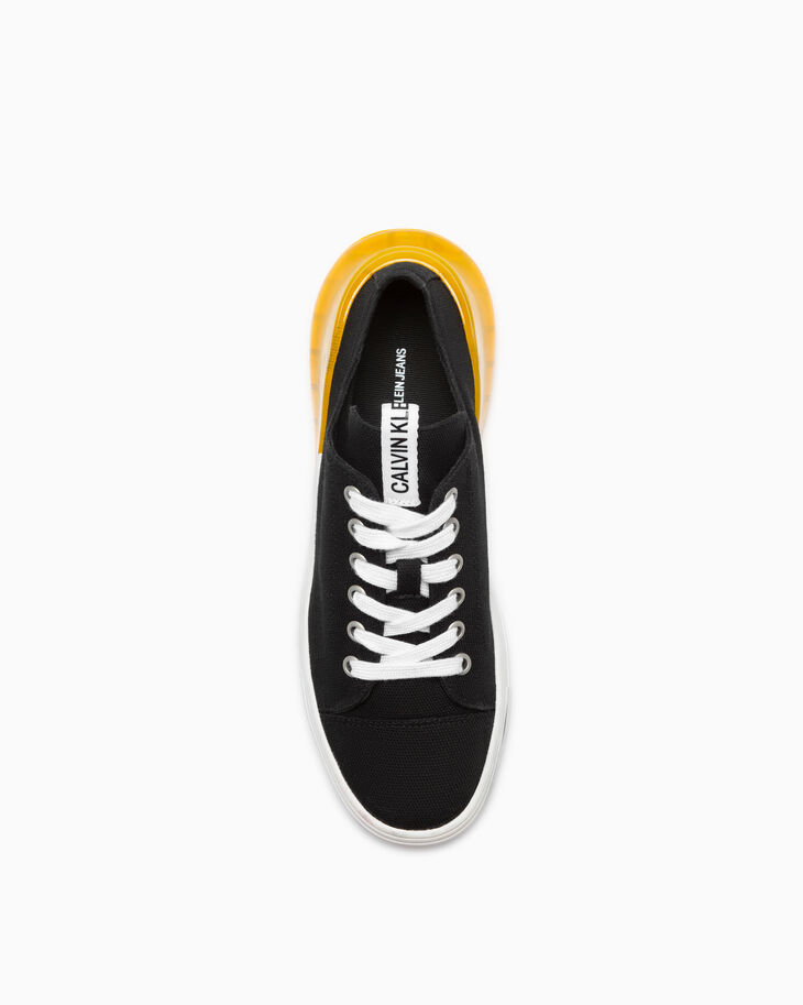 CALVIN KLEIN LOW TOP CANVAS SNEAKERS