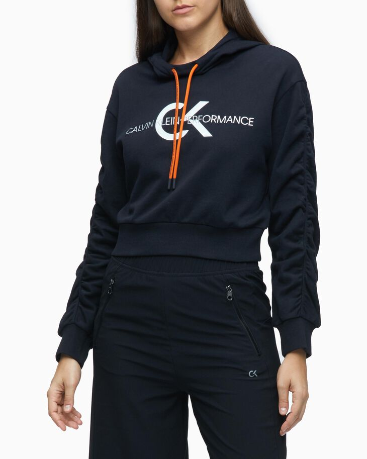 CALVIN KLEIN SUSTAINABLE PERFORMANCE ICON CROPPED HOODIE
