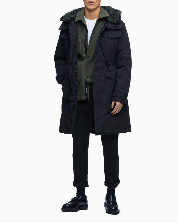 CALVIN KLEIN SHERPA LINED DOWN PARKA JACKET