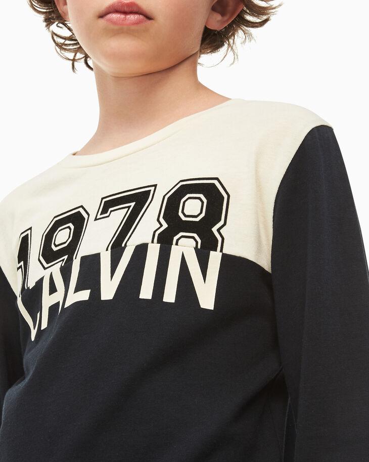 CALVIN KLEIN BOYS 1978 CALVIN COLOR BLOCK T シャツ