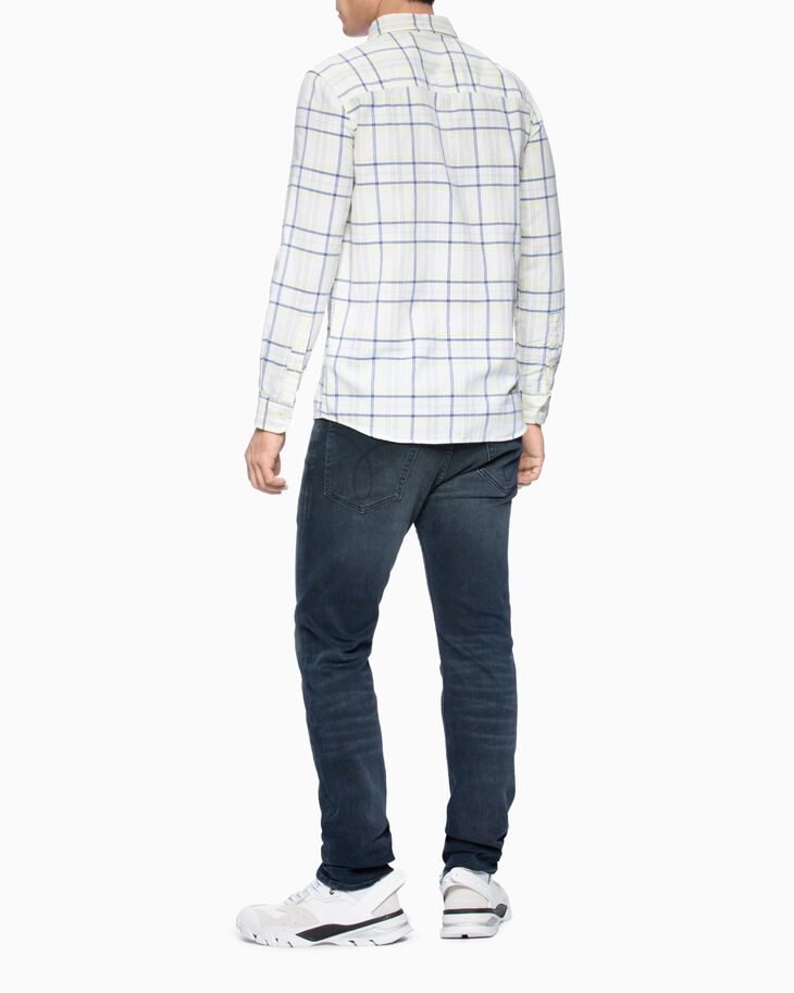 CALVIN KLEIN 格紋合身版型襯衫