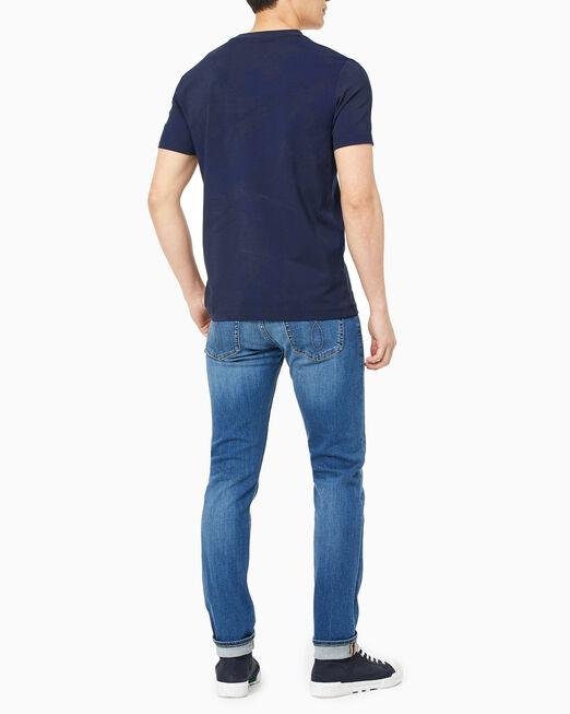 CALVIN KLEIN 남성 슬림핏 토널 로고 스프레이 반팔 티셔츠
