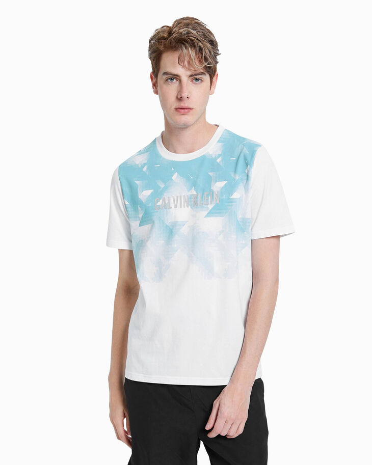 CALVIN KLEIN TRANSLUCENT ALL OVER PRINT TEE