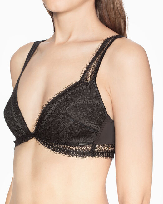 CALVIN KLEIN CK BLACK LIGHTLY LINED 트라이앵글 브라