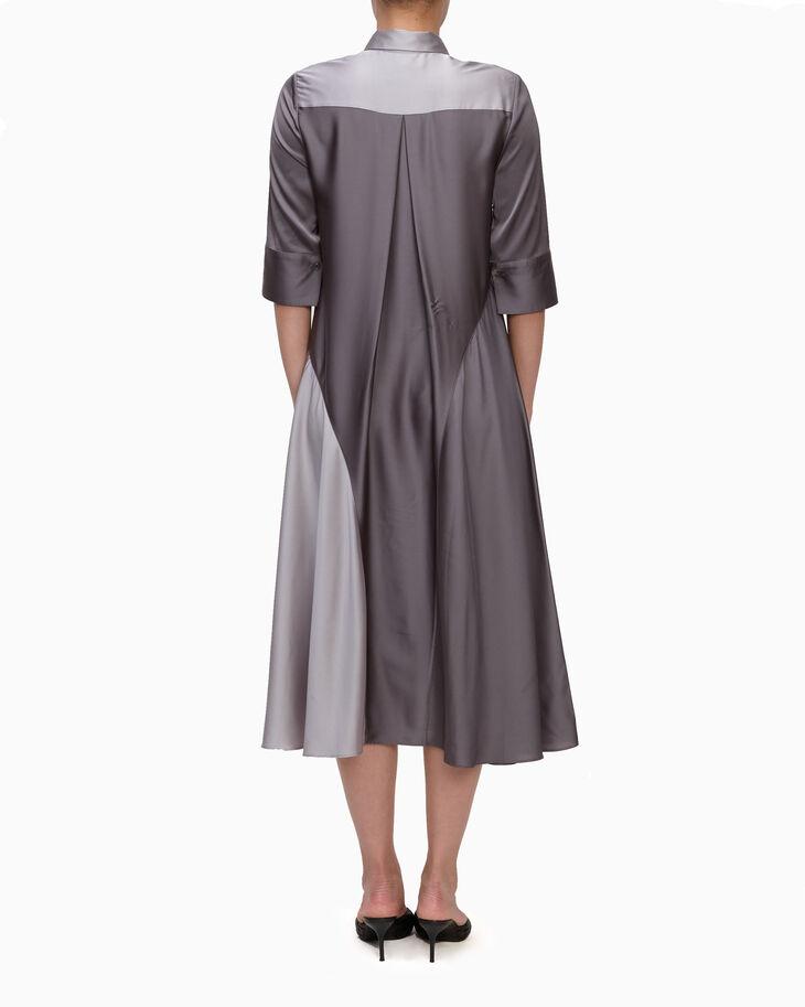 CALVIN KLEIN LIGHTWEIGHT CHARMEUSE SHIRT DRESS