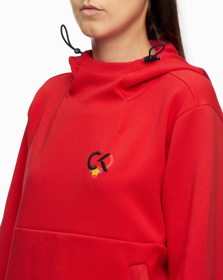 CALVIN KLEIN CHINESE NEW YEAR CAPSULE FABRIC MIX HOODIE