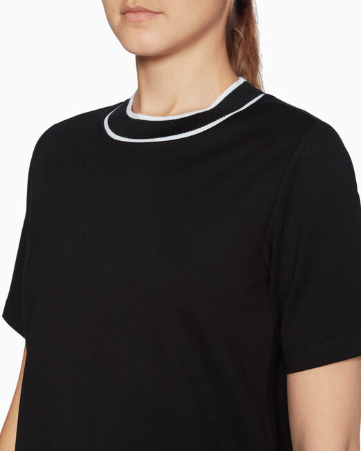 CALVIN KLEIN KNIT LOGO TAPE TOP