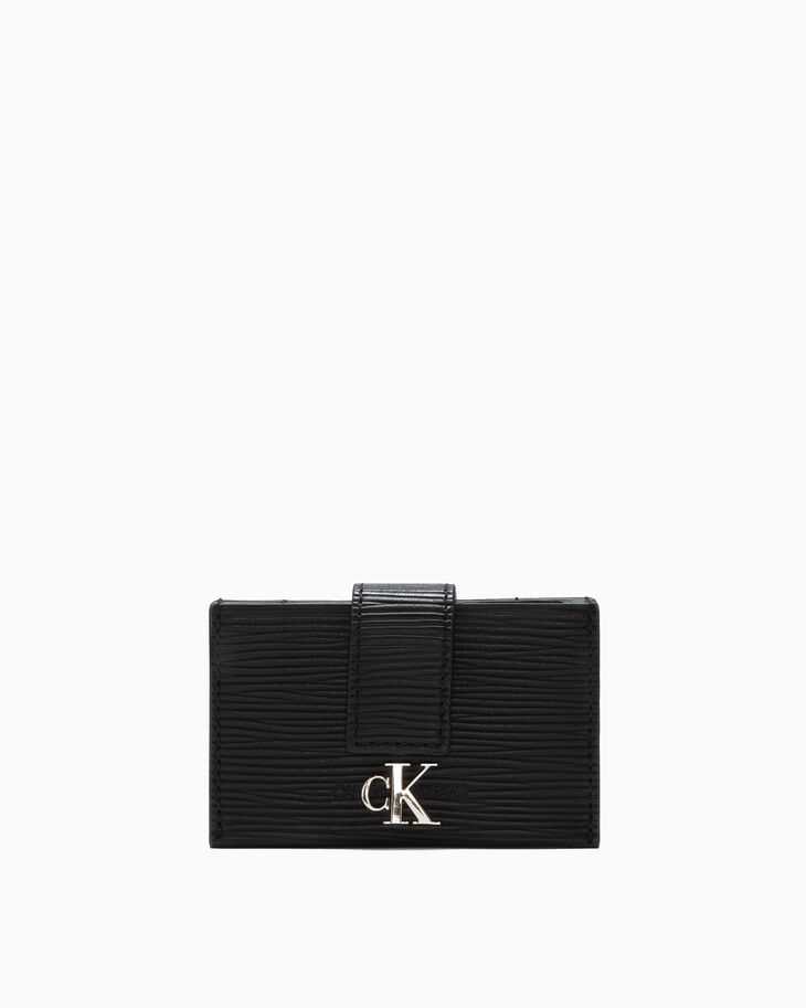 CALVIN KLEIN TEXTURED LEATHER ACCORDION CASE