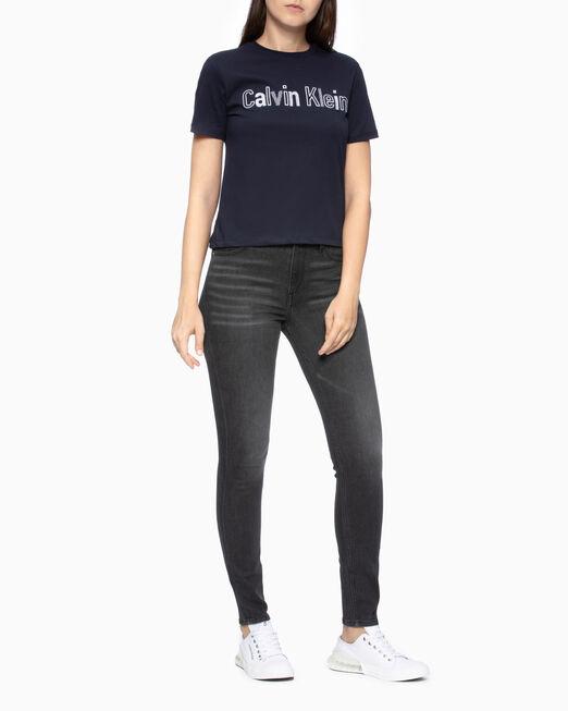 CALVIN KLEIN EMBROIDER LOGO 티셔츠