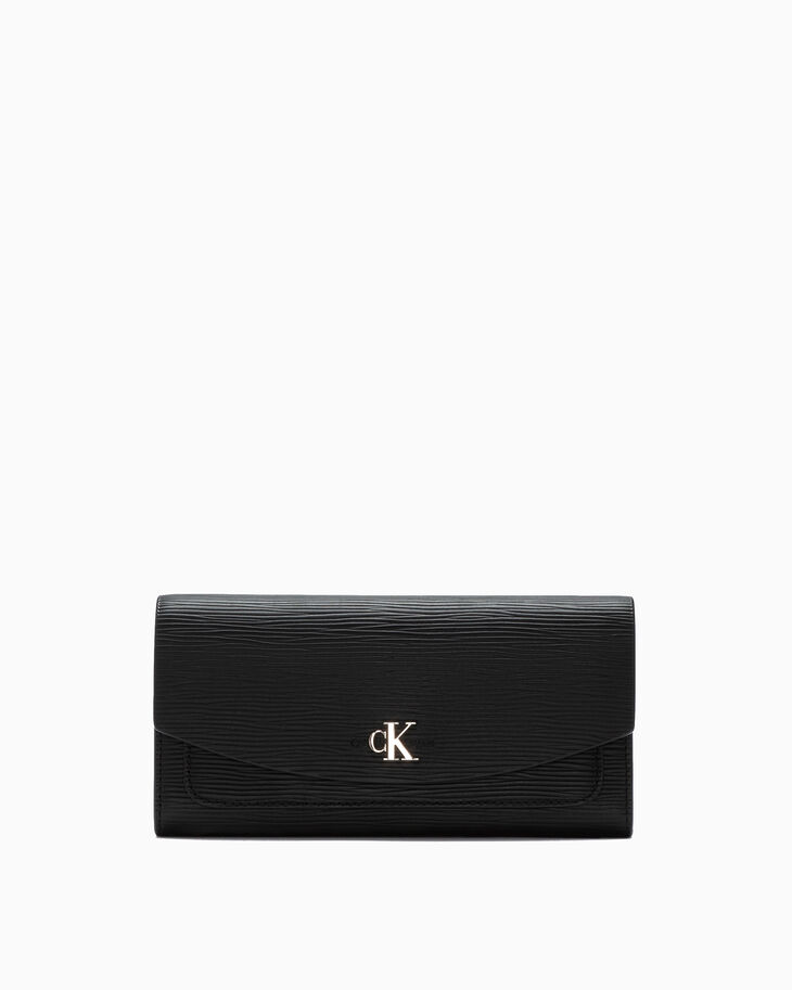 CALVIN KLEIN TEXTURED LEATHER 長款摺式錢包
