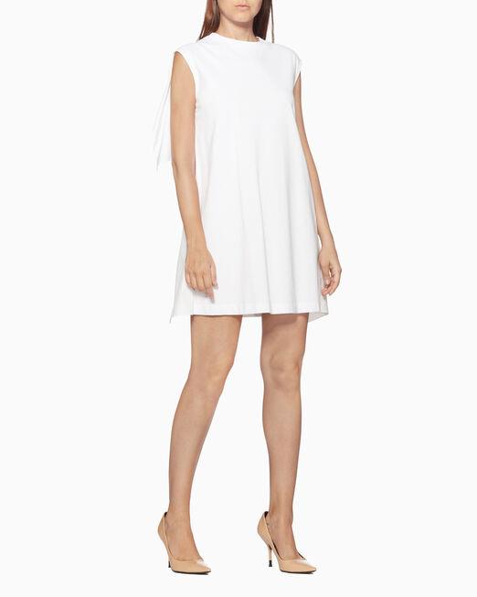 CALVIN KLEIN CLASSIC COTTON POPLIN RUFFLE 드레스