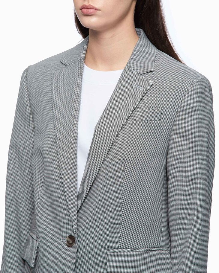 CALVIN KLEIN CHECKED SUIT JACKET