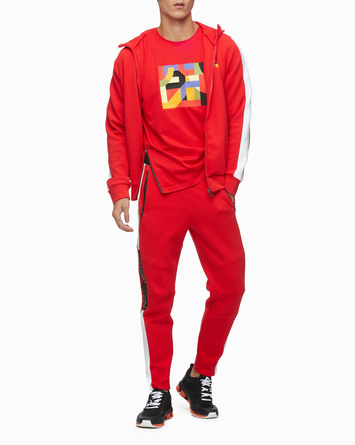 CALVIN KLEIN CHINESE NEW YEAR CAPSULE COLOR BLOCK ZIP HOODIE