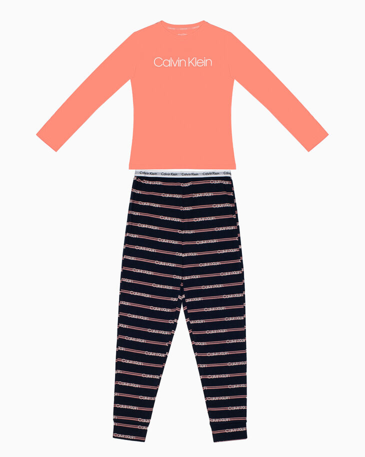 CALVIN KLEIN GIRLS KNIT PAJAMA SET