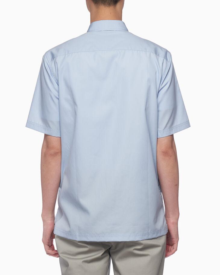 CALVIN KLEIN ロゴ ジャカードテープ ポプリンシャツ