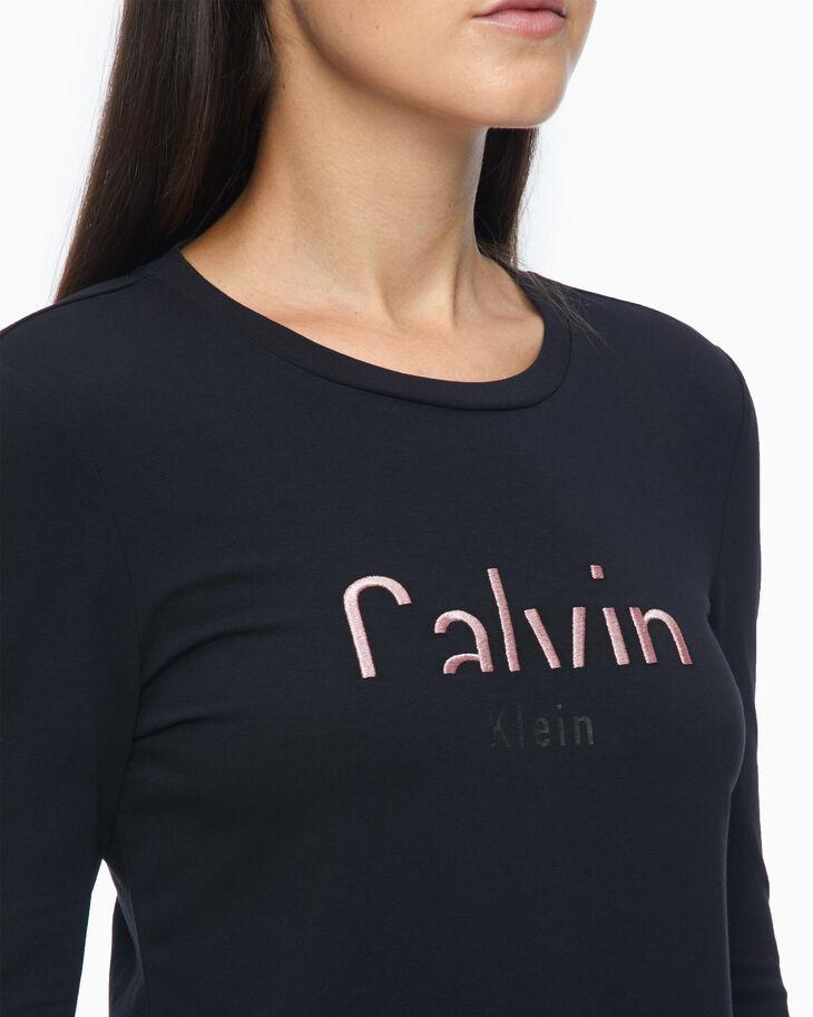 CALVIN KLEIN CUT OFF LOGO SLIM TEE