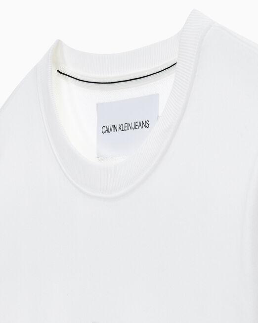 CALVIN KLEIN 남성 썸머 로고 크루넥 스웨트 셔츠