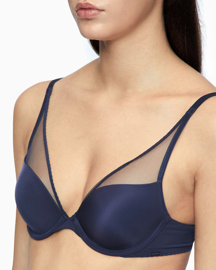 CALVIN KLEIN CK BLACK PUSH UP PLUNGE BRA