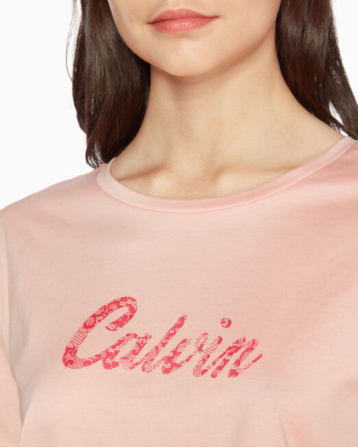 CALVIN KLEIN LACE LOGO 티셔츠