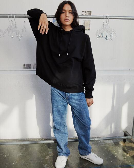 CALVIN KLEIN 남녀공용 프로젝트 오렌지 오가닉 코튼 히든 포켓 후디(블랙)