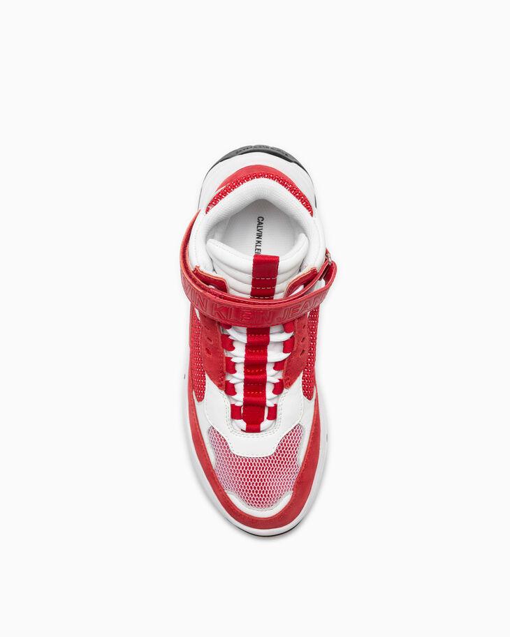 CALVIN KLEIN DUAL TONE 麂皮高筒運動鞋