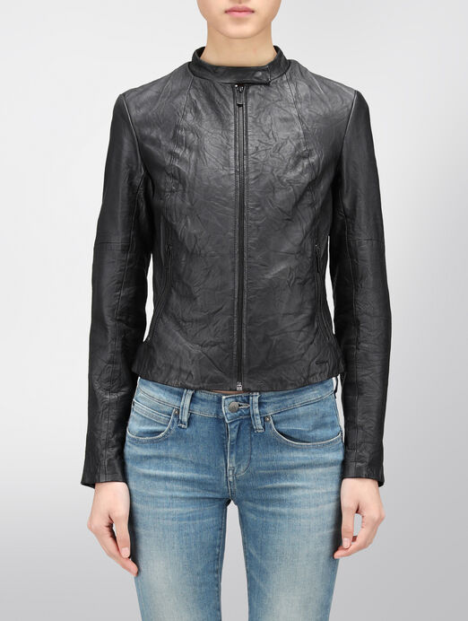 CALVIN KLEIN NELL LEATHER JACKET